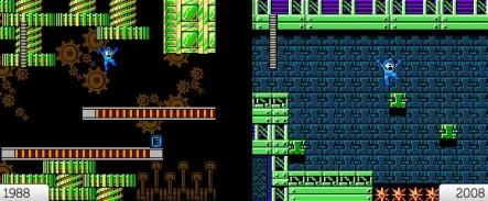 Mega Man 9: Vergleich 1988—2008