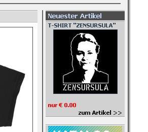 Zensursula Screenshot (C) 2009 by RETRO