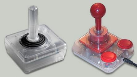 Atari-VCS- und Competition-Pro-Joystick