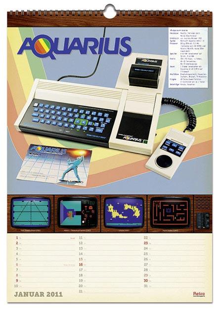 Retro-Kalender Januar 2011 – Mattel Aquarius