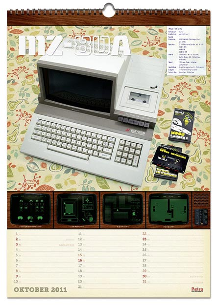 Retro-Kalender Oktober 2011 - Sharp MZ-80A