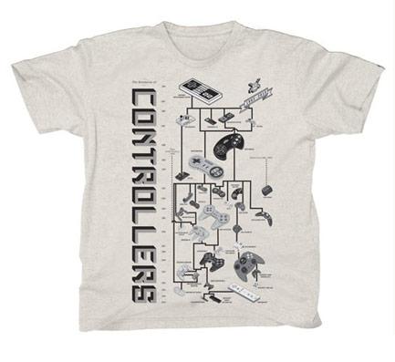 Die Evolution der Videospiel-Controller als T-Shirt