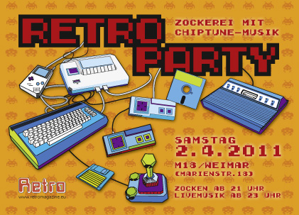 Flyer Retro-Party M18/Weimar