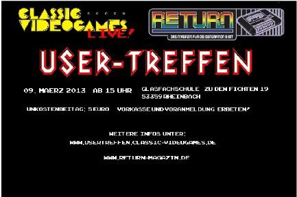 Classic-Videogames LIVE! & Return Usertreffen