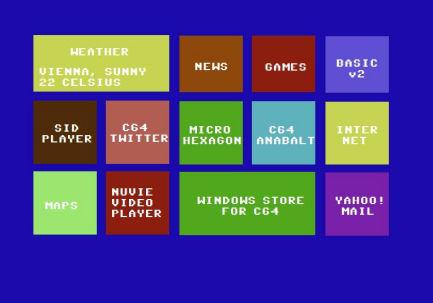 Windows 8.1 für C64 - Menü