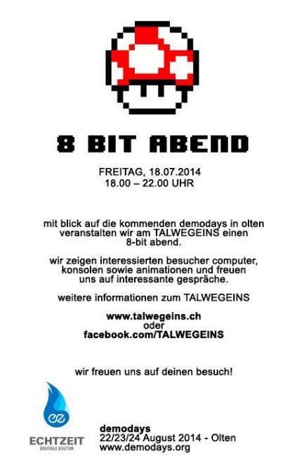 8 Bit Abend, 18. Juli 2014, Bern