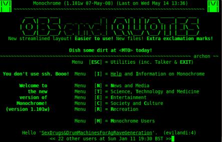 Monochrome BBS