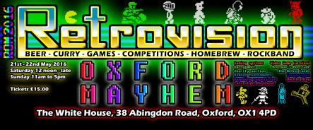 ROM 2016 - Retrovision Oxford Mayhem, 21.-22.05.2016, Oxford, UK