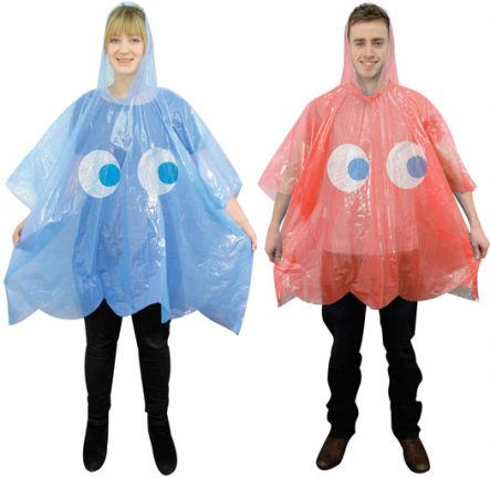 Pac-Man Ghost Ponchos